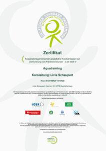 Zertifikat Aqua Training