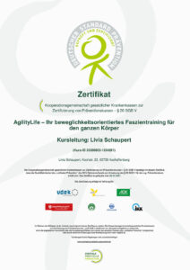 Zertifikat: Faszientraining