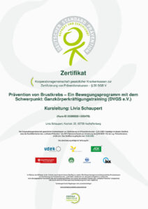 Zertifikat: Onkologiesport