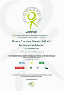 Zertifikat: Progressive Muskelentspannung