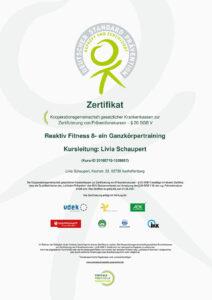 Zertifikat Reaktiv Fitness